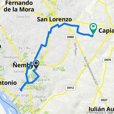 De Avenue Manuel Ortiz Guerrero 1124, Ñemby a Félix Fernández, Kapi'atã
