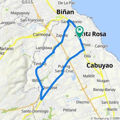 Route to Manila South Road, Santa Rosa City