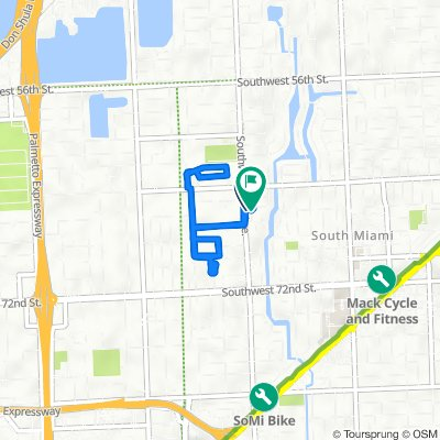 6646 SW 65th Terr, South Miami to 6626 SW 65th Terr, South Miami
