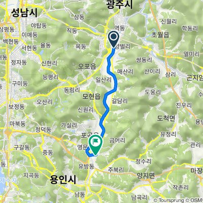 Route from 오포읍 146−9, 광주시
