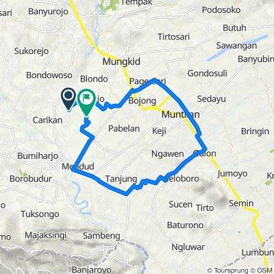 Jalan Blabak - Mendut 2, Mungkid to Kawinan, Mungkid