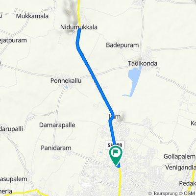 Amaravathi Road 190, Guntur to Amaravathi Road 190, Guntur