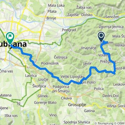 STKP 41: Planinski dom na Jančah – Ljubljanski grad