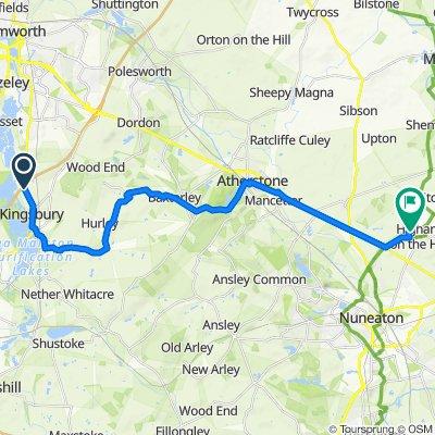 Tamworth Road, North Warwickshire to 57 Hilary Bevins Close, Nuneaton