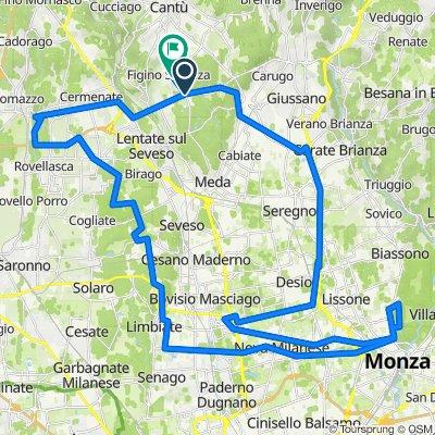 Da Via Provinciale Novedratese 23 a Via Vico Necchi 17, Figino Serenza