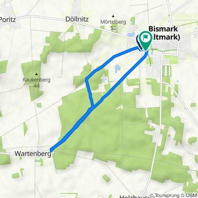 Straße der Jugend 3, Bismark (Altmark) nach Wartenberger Straße 8, Bismark (Altmark)