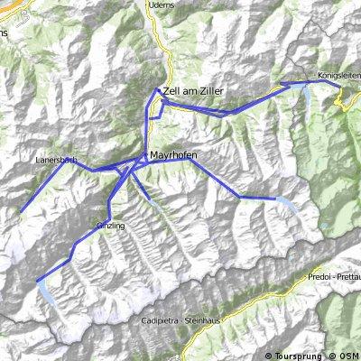 5 Seitentäler und 5 Seen im Zillertal