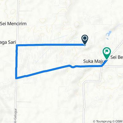 Jalan Jati, Kecamatan Sunggal to Jalan Sei Mencirim, Kecamatan Sunggal