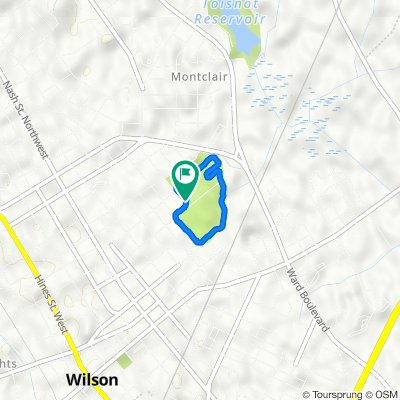 400 College St NE, Wilson to 400 College St NE, Wilson
