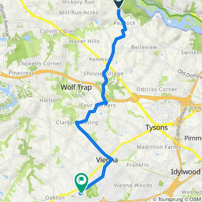 9035–9043 Old Dominion Dr, McLean to 9758 Hatmark Ct, Vienna