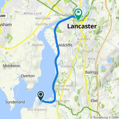 Glasson Dock Road, Glasson Dock, Lancaster to 26 Waterside, Lancaster