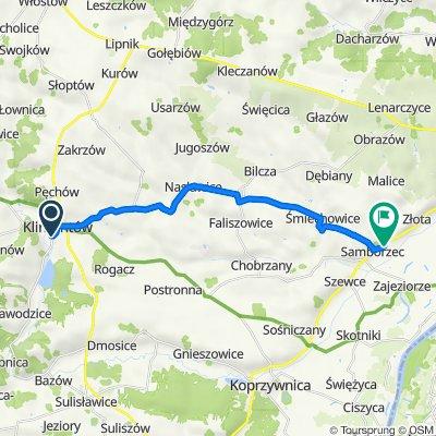 Osiecka 42–56, Klimontów do Polanów 126, Samborzec