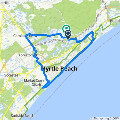 Frontage Road B-2, Myrtle Beach to 765 Dragonfly Dr, Myrtle Beach