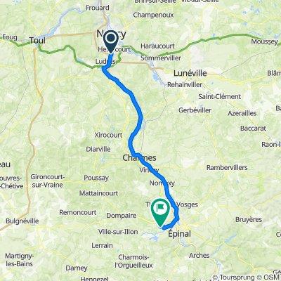 De Allée de la Genelière, Houdemont à 5 Impasse des Suédois, Uxegney