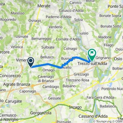 Via Giacomo Leopardi 20, Burago di Molgora to Via Alzaia 13, Trezzo sull'Adda