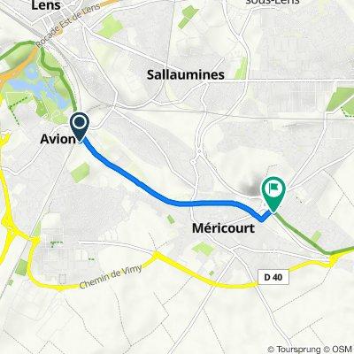 Itinéraire vers 2B Boulevard Salvador Allende, Méricourt
