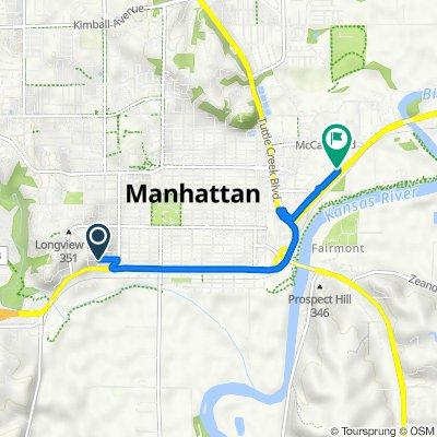 Rockhill Road 1825, Manhattan to East Poyntz Avenue 601, Manhattan