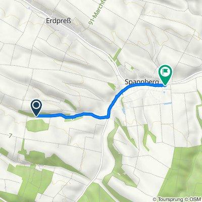 Route nach Am Bach 86, Spannberg