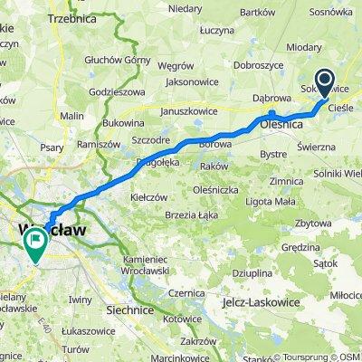 Sokołowice 94B, Oleśnica Śląska do Powstańców Śląskich 220, Wrocław