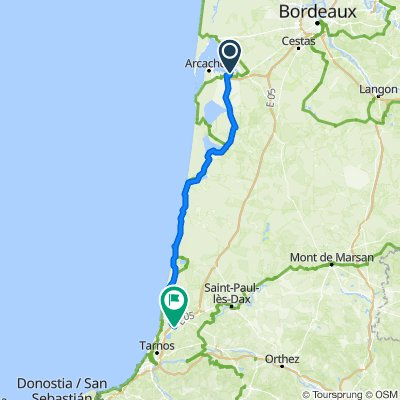 De 7 Impasse de Rivoli, Gujan-Mestras à 25–55 Allée des Sports, Bénesse-Maremne