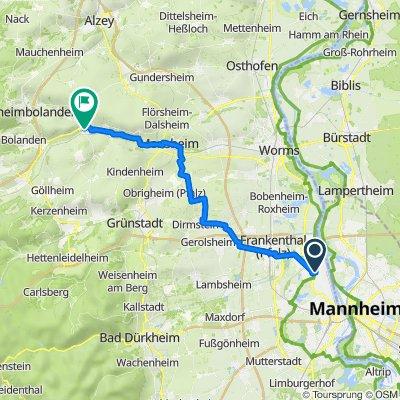 Fritz-Trambauer-Straße, Ludwigshafen nach Kirchgasse 2–2A, Albisheim (Pfrimm)