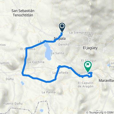 Ruta a HGO-103, Nopala de Villagrán