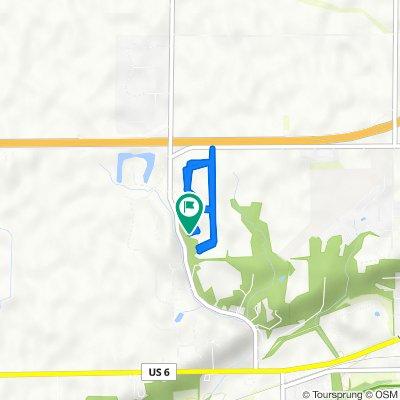 2966 E 1509th Rd, Ottawa to 2963 E 1509th Rd, Ottawa