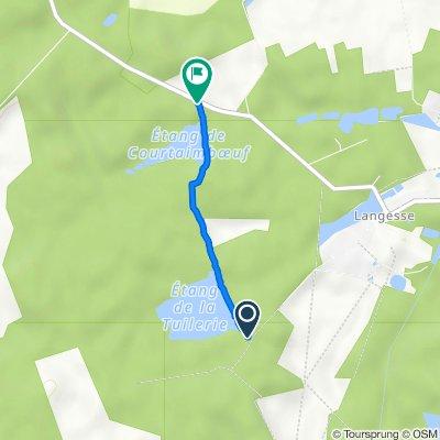 De Chemin de la Thuilerie, Langesse à D57, Le Moulinet-sur-Solin
