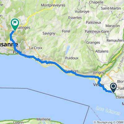 Route de Saint-Maurice 310.2, La Tour-de-Peilz nach Route de Berne 144, Lausanne