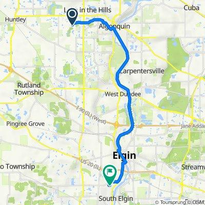 650 Brookside Ave, Algonquin to 755 Schneider Dr, South Elgin