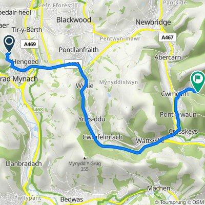 4 Phoenix Way, Hengoed to Cwmcarn Forest Dr, Cwmcarn, Newport