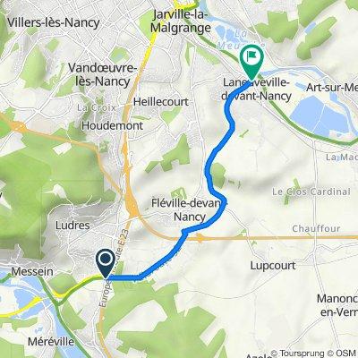 D570, Richardménil to 2 Rue du Général Patton, Laneuveville-devant-Nancy