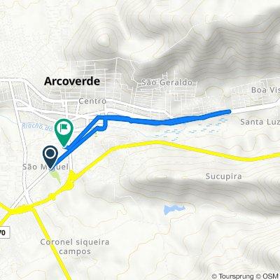 De Avenida Pinto de Campos, 924, Arcoverde a Rua Ieda Maria de Siqueira Regis, 81, Arcoverde