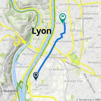 De 36 Rue André Bollier, Lyon à 185 Rue Vendôme, Lyon