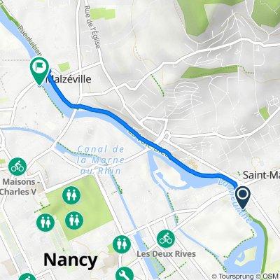 De 17 Rue Virginie Mauvais, Tomblaine à 101 Rue du Crosne, Nancy