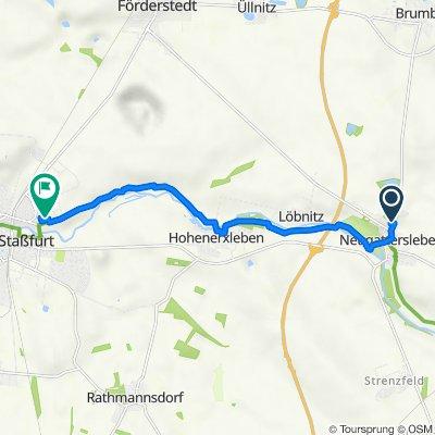 Brumbyer Straße 5, Nienburg (Saale) nach Von-der-Heydt-Straße 41, Staßfurt