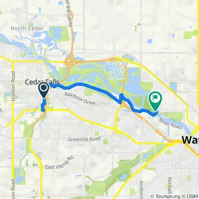 2022 State St, Cedar Falls to Sans Souci Dr, Waterloo