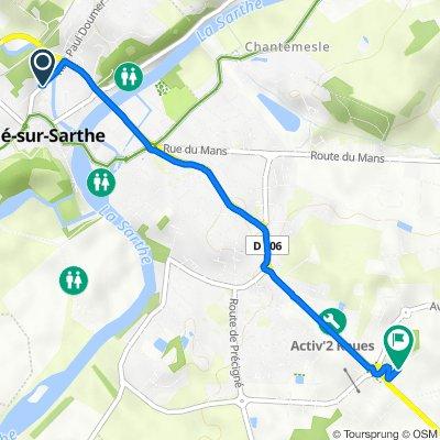 De 29bis Rue Paul Doumer, Sablé-sur-Sarthe à Impasse de l'Aubrée, Sablé-sur-Sarthe