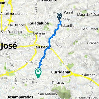 De Caminito de La Cuarta, San José a Avenida 52A, San José