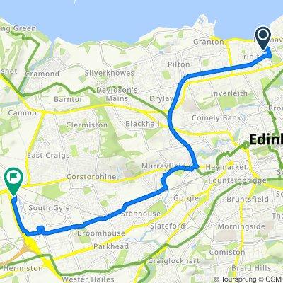 33 East Trinity Road, Edinburgh to 6 Lochside View, Edinburgh