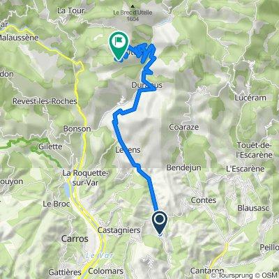 Route from 416 Boulevard Léon Sauvan, Tourrette-Levens
