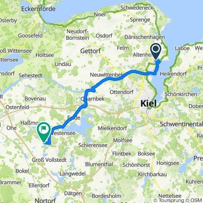 Fehrsstraße 1–19, Kiel nach Allee, Emkendorf