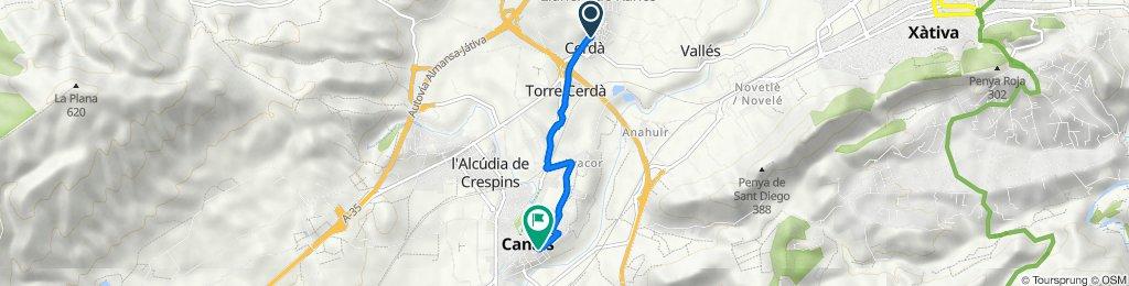 De Carrer Josep Segrelles 14, Cerdà a Carrer Esperança 12, Canals