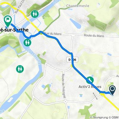 Itinéraire vers 76 Grande Rue, Sablé-sur-Sarthe