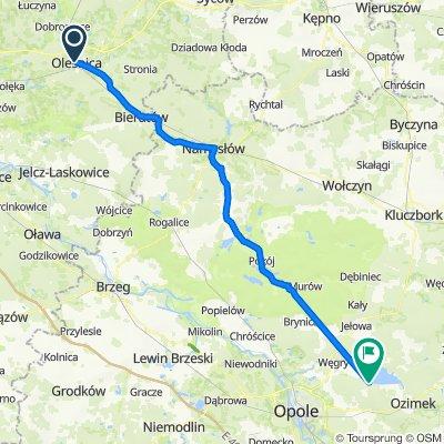 Wrocławska, Oleśnica do Wędkarska, Turawa