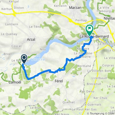 Barrage d'Arzal, Camoël to 1–3A Quai de la Douane, La Roche-Bernard