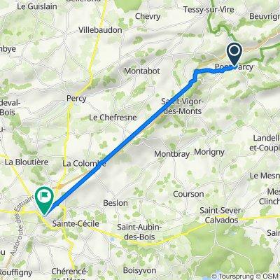De 4 Route de Tessy, Pont-Farcy à 50 Rue Général Huard, Villedieu-les-Poêles
