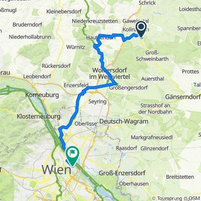Weinviertel Bad Pierawarth -> Wien