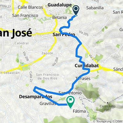 Ruta desde Calle Novillos, San José