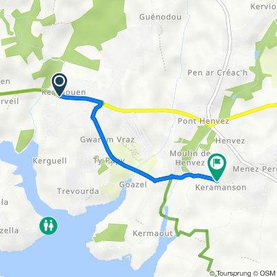 De Route de Fouesnant, Bénodet à 38 Chemin de Saint-Sébastien, Fouesnant